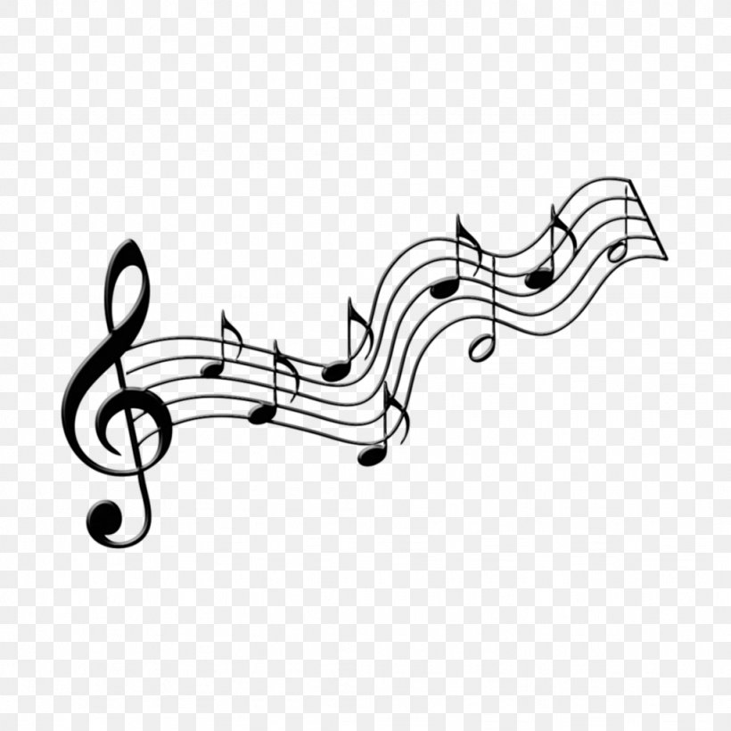 Musical Note Image Staff, PNG, 1024x1024px, Music, Blackandwhite, Clef, Eighth Note, Free Music Download Free