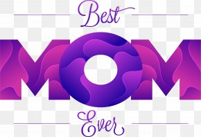 Purple Art Word MOM - Mother Microsoft Word Application Software PNG