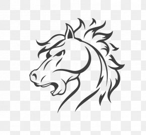 Vector Painted Horse - Horse Logo Illustration PNG