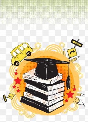 Bachelor Of Cap Poster Art Background Clip - Poster Bachelors Degree Art PNG