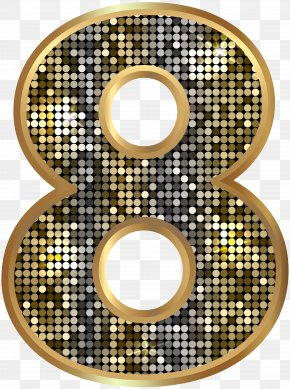 Number Eight Deco Gold Clip Art Image - Ready-to-Use Art Nouveau Initials Clip Art PNG