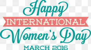 Women's Day Element - International Womens Day Fathers Day Woman Typography PNG