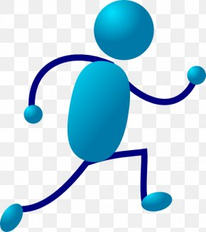 Moving Running Cliparts - Stick Figure Free Content Clip Art PNG