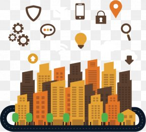 Modernized City - Location-based Service Information Technology Cloud Computing Internet Of Things Business PNG