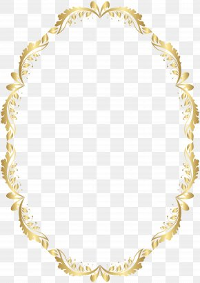 Golden Oval Border Transparent Clip Art - Picture Frame Clip Art PNG