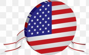 Blue Circle, American Flag - Flag Of The United States Illustration PNG