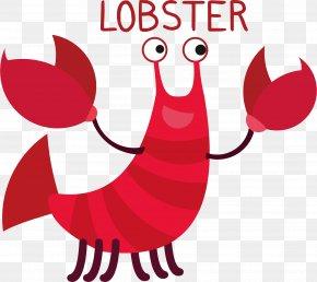 Cartoon Animal Lobster Vector - Llama Zoo Alphabet Komodo Dragon Lobster Cat PNG