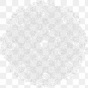 Lace Pattern Shading - White Circle Area Pattern PNG