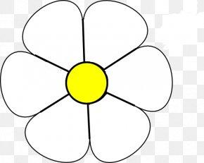 Black Daisy Cliparts - Black And White Common Daisy Clip Art PNG