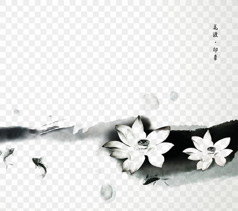 Diamant Koninkrijk Koninkrijk Chinoiserie Ink Wash Painting High