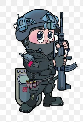 Cartoon China Special Police - Cartoon Special Police Illustration PNG