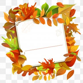 Fall Decorative Blank With Leaves Clipart Image - Image File Formats Lossless Compression PNG