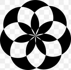 Shape - Geometric Shape Flower Circle Clip Art PNG