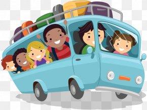 Children Bus - Cartoon Child Clip Art PNG
