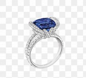 Sapphire - Sapphire Engagement Ring Jewellery Diamond PNG