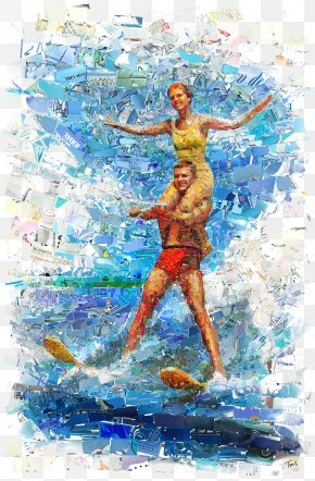 Figure Painting Creative Men And Women - Visual Arts Collage Photographic Mosaic PNG