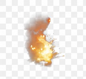 Powder Exploded Particles Splash - Explosion Firebombing Sticker PNG
