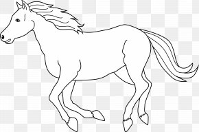 Running Horse Images - Tennessee Walking Horse Black And White Free Content Clip Art PNG