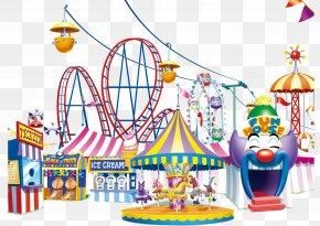 Happy Amusement Park - Carousel Amusement Park PNG
