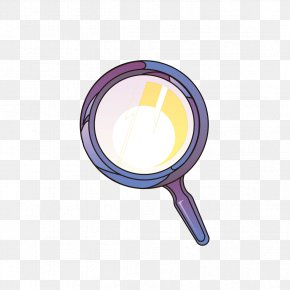 Purple Decorative Material Magnifying Glass - Magnifying Glass Purple Circle PNG