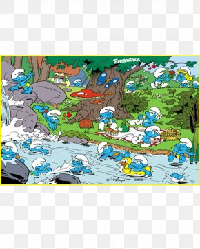 Taobao Decoration Materials - Jigsaw Puzzles The Smurfs Toy Coloring Book PNG