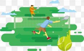 Grass Tennis Vector - Tennis Centre Euclidean Vector Download PNG