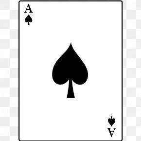 Ace Card - Ace Of Spades Playing Card Ace Of Hearts Clip Art PNG
