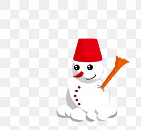 Creative Image Red Hat Snowman - Snowman Clip Art PNG