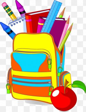 School Started - Student School Bag Clip Art PNG