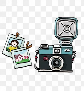 Painted Camera And Photos - Digital Cameras Photography PNG