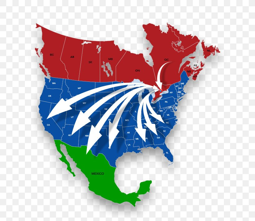 Canada United States And Mexico Map.Mexico United States Border Canada Map Png 650x711px United