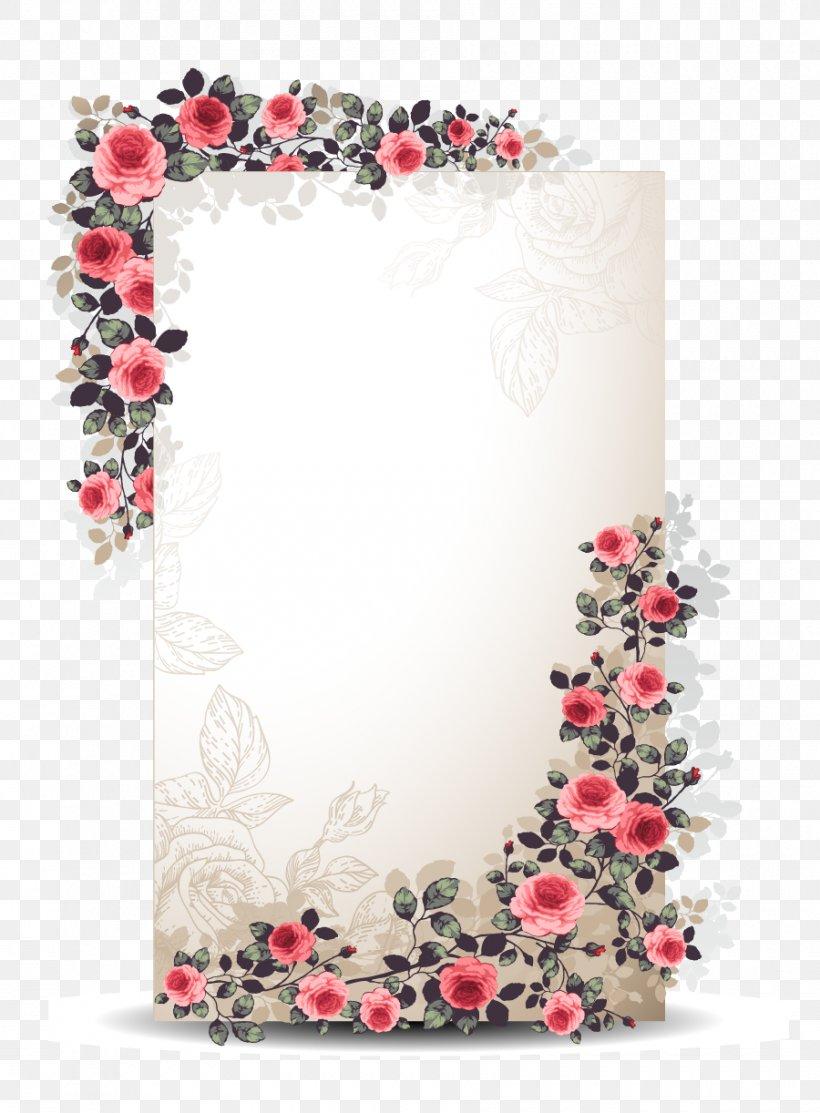 Flower Paper Euclidean Vector Floral Design, PNG, 900x1222px, Wedding Invitation, Art, Cut Flowers, Decorative Arts, Drawing Download Free