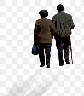 Parents Back - Old Age PNG