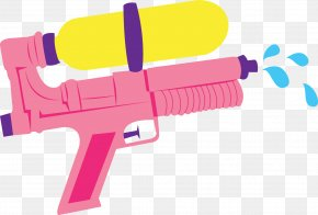 Songkran - Water Gun Firearm Toy Clip Art PNG