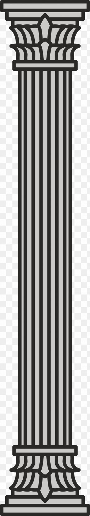 Grey Column - Column Black And White Walled Obelisk Grey Partition Wall PNG