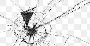Black Simple Broken Glass Effect Elements - Glass PNG