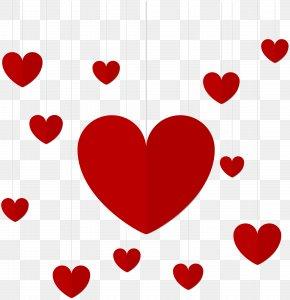 Hanging Hearts Decor Clip Art - Heart Clip Art PNG
