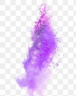 Purple Atmosphere Explosion Dust Effect Element - Ink Color PNG
