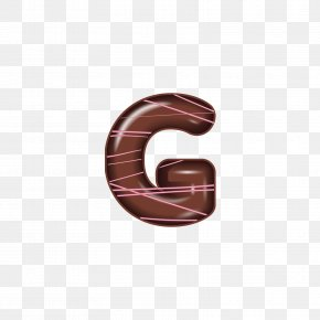 The Chocolate Alphabet G - Letter Adobe Illustrator Font PNG