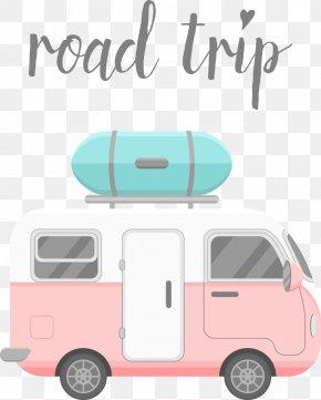 Vector Cartoon Car - Caravan Stock Illustration Mobile Home Illustration PNG