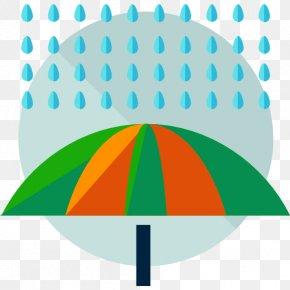 A Rain Under Umbrella - Rain Icon PNG