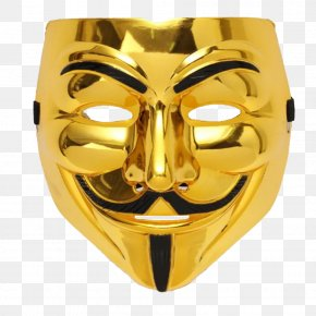 Mask - V For Vendetta Guy Fawkes Mask Costume Party PNG