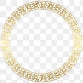 Round Gold Border Frame Transparent Clip Art - Picture Frame Gold Clip Art PNG