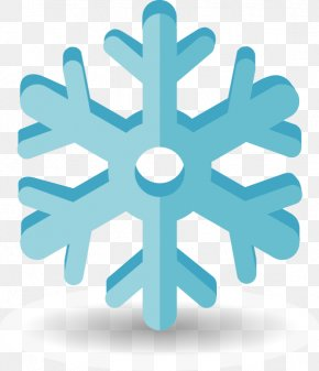 Hand-painted Ice Blue Snowflake Pattern Element - Royalty-free Silhouette Icon PNG