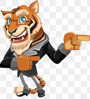 When Tiger Cartoon Wizard - Tiger Cartoon PNG