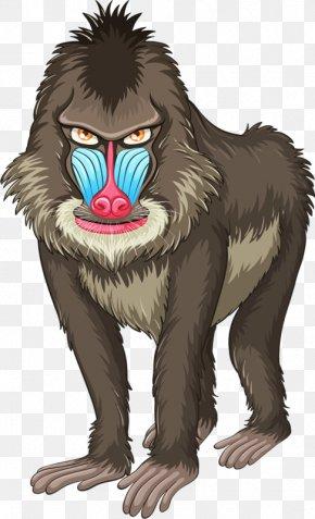 Strange Gorilla - Mandrill Euclidean Vector Stock Photography Illustration PNG