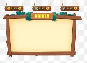 Cute Cartoon Game UI Border - Game User Interface Adobe Illustrator PNG