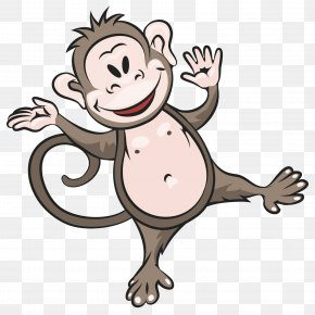 Cute Animal Monkey - Monkey Hippopotamus Rhinoceros Clip Art PNG
