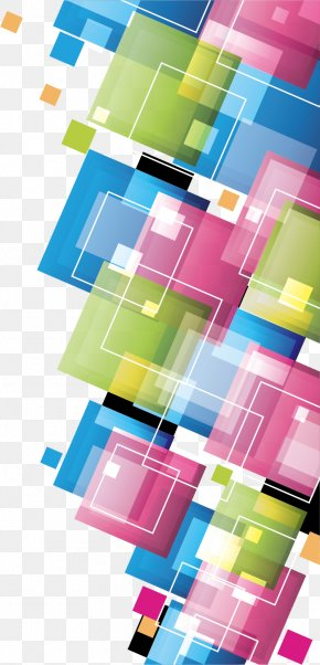 Creative Colorful Squares - Colorful Squares Template Photography PNG