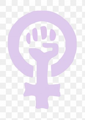 Pink Symbol Of Women's Rights - Feminism Power Symbol Raised Fist Gender Symbol PNG